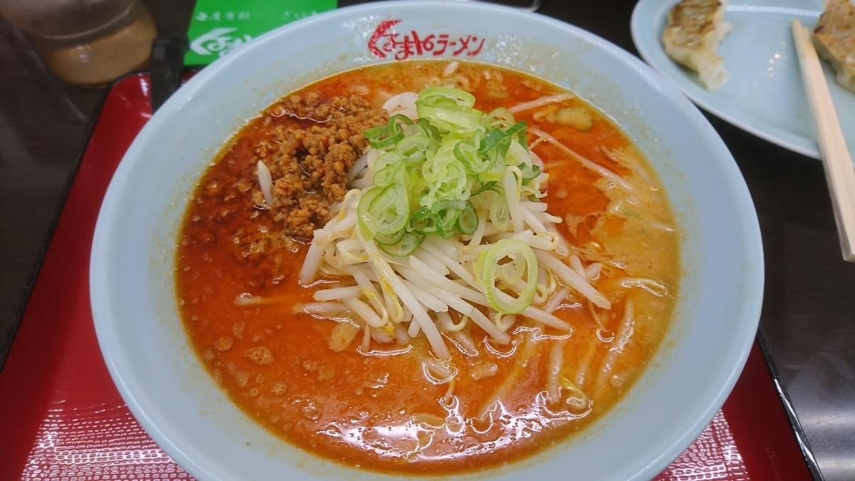 味噌担々麺 @ くるまやラーメン 高岡店 2021年5月9日