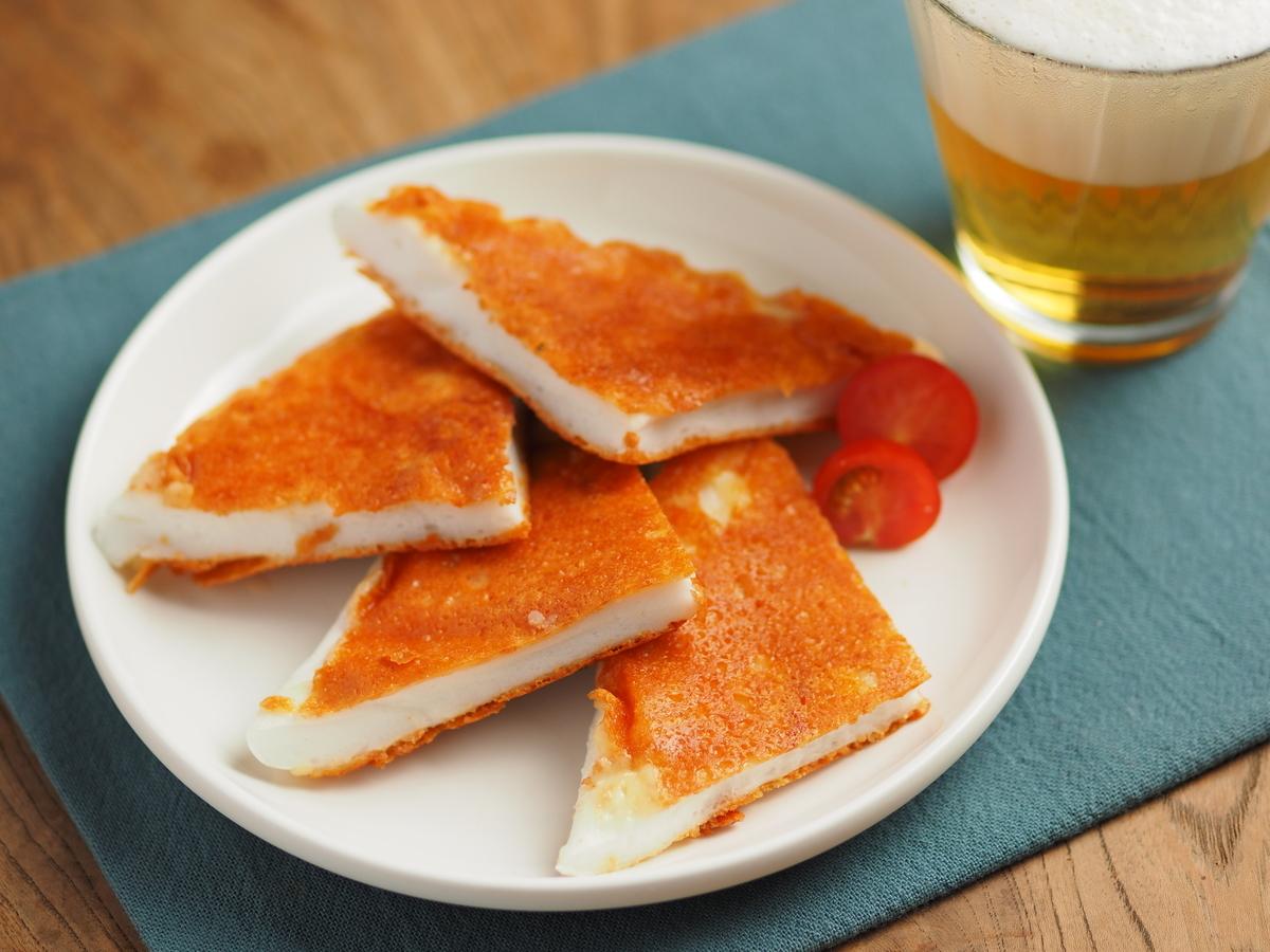 ビール好きのためのカリカリ食感「はんぺんの明太チーズせんべい」【筋肉料理人】