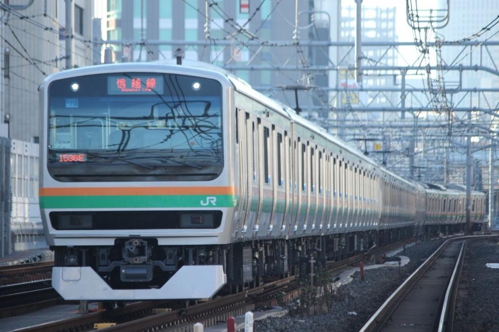上野東京ラインでE231系+E233系が信越線と御殿場線表示をしたと話題に