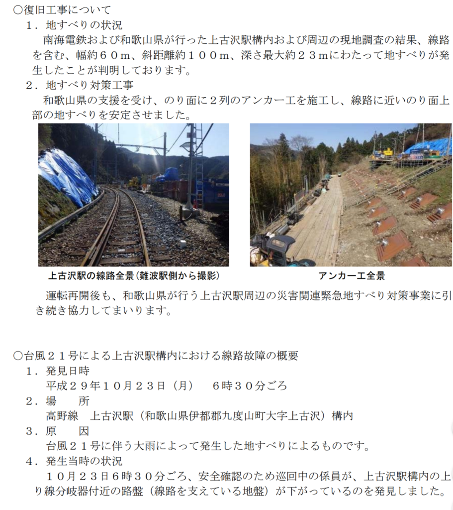 2018年3月31日から南海高野線(高野下駅~極楽橋駅)運転再開