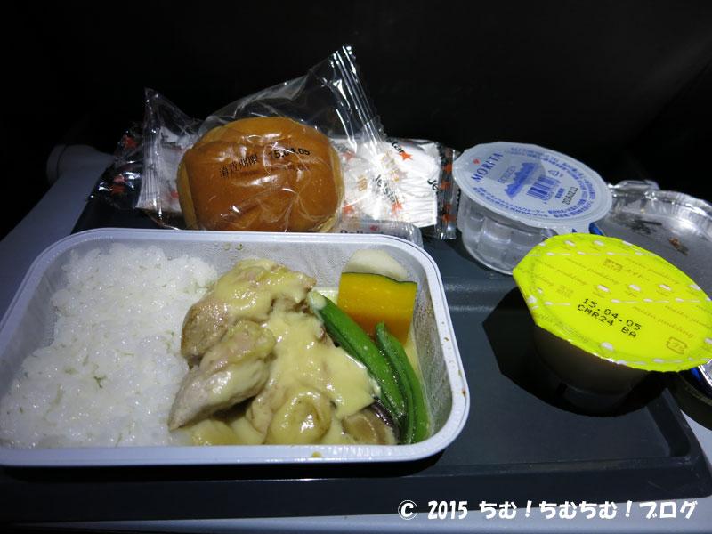 Jetstar機内食チキンのクリーム煮