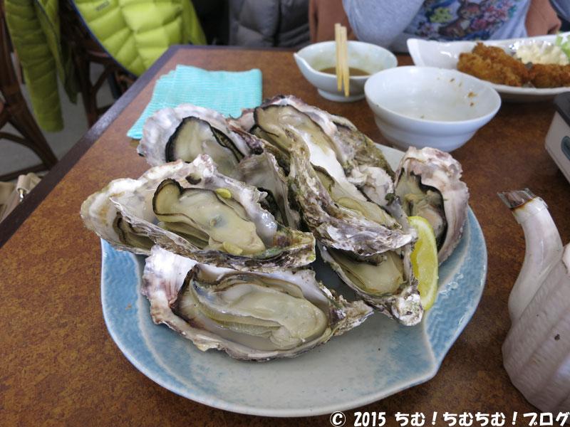 焼き牡蠣の盛り合わせ