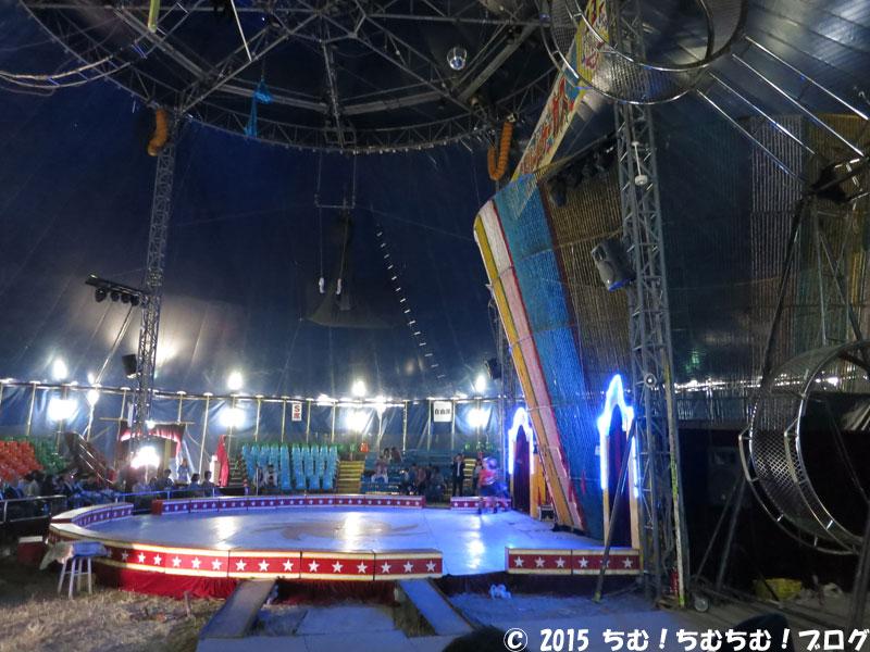 ハッピードリームサーカスの自由席からの見え方