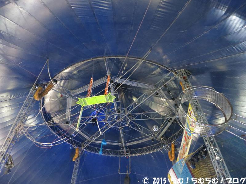 ハッピードリームサーカスのテントの天井