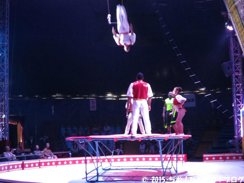 トランポリンのサーカス