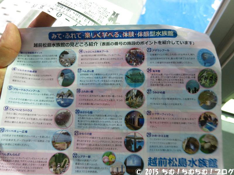 越前松島水族館の地図の裏