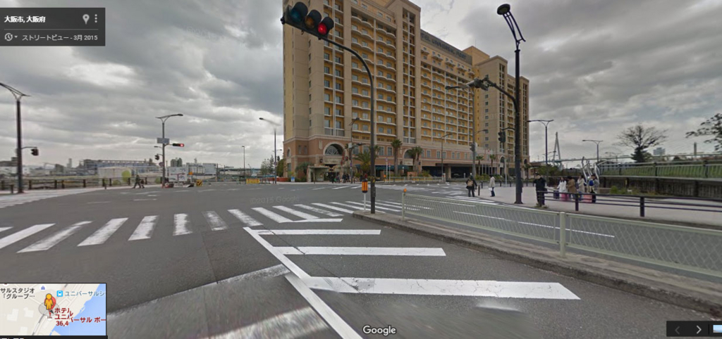 ホテルユニバーサルポートの交差点