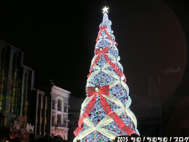 点灯後のクリスマスツリー