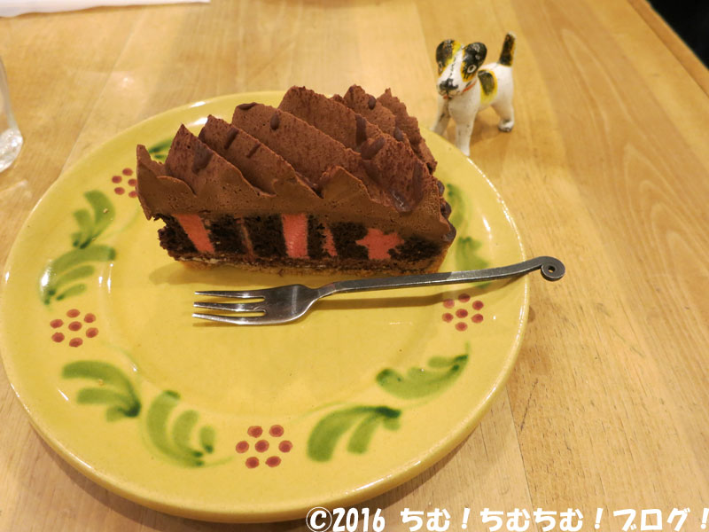 フランボワーズのケーキ