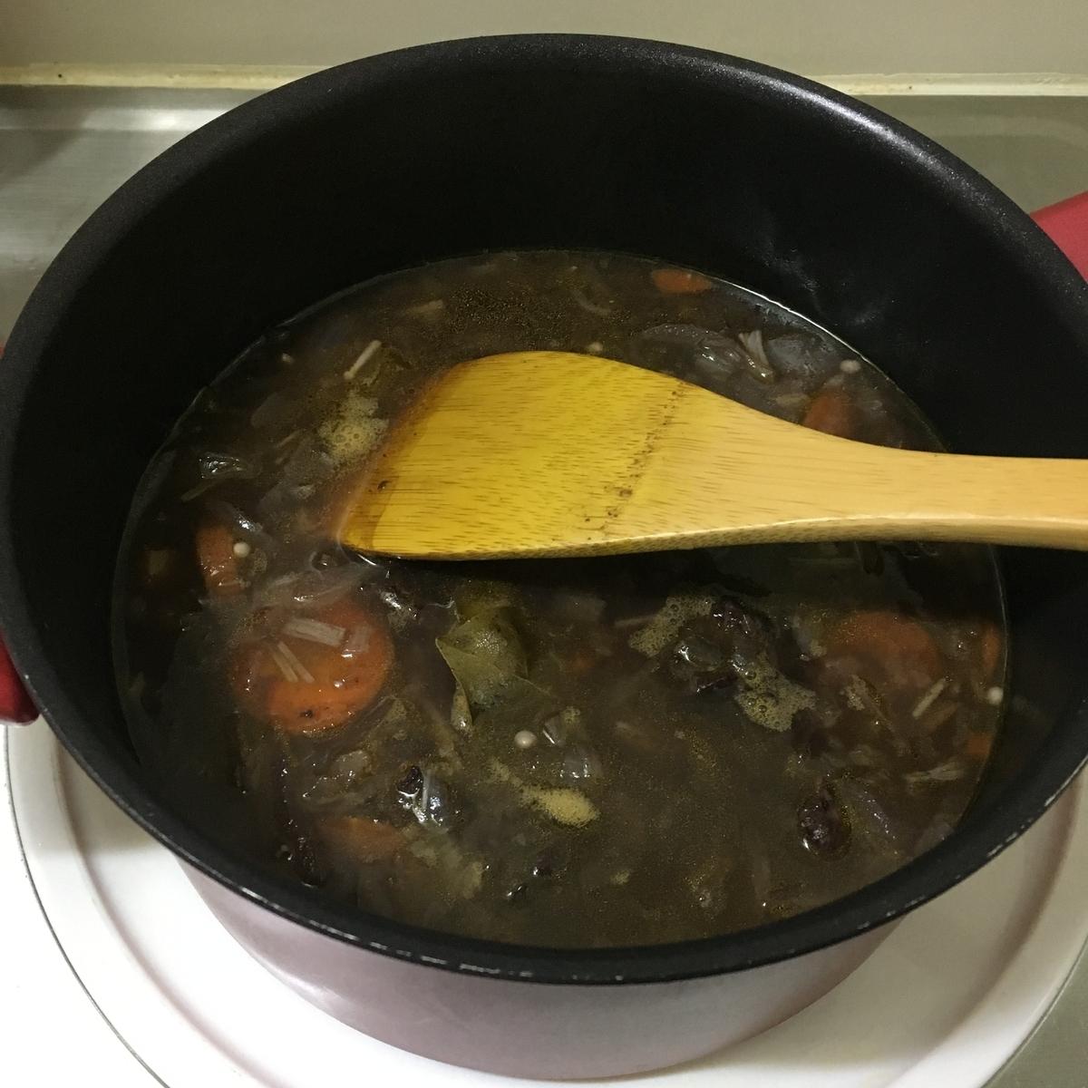 2時間煮込んだ肉