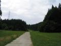 11時17分、スキー場のようなところを歩く。結構急な坂です。。