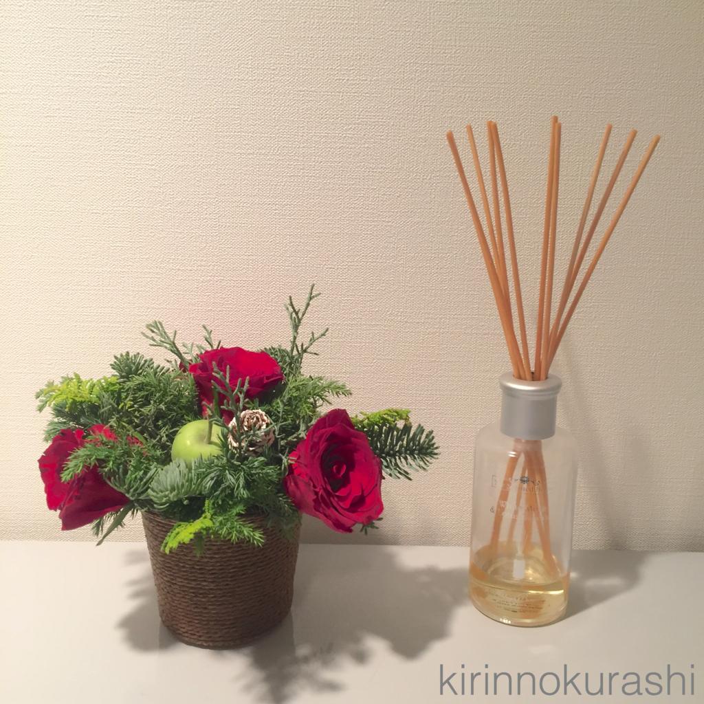 玄関の飾り お花