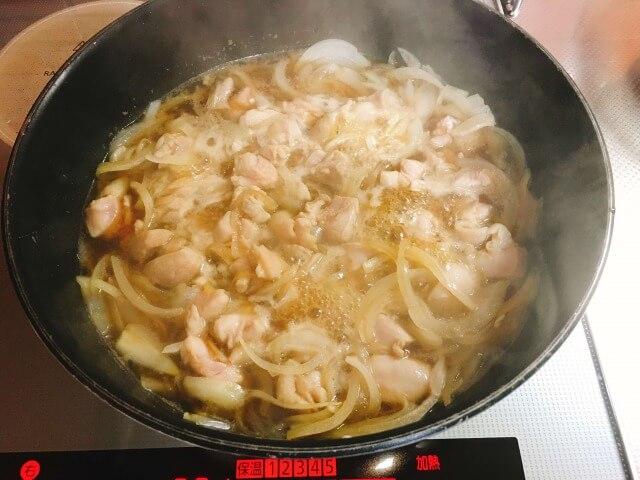 親子丼レシピ②