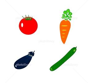 野菜 イラスト素材 季節の風景 写真イラスト素材