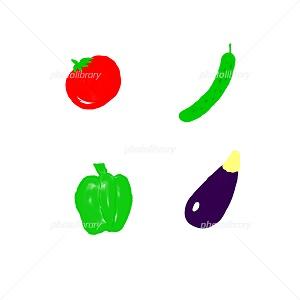 夏野菜 イラスト素材 季節の風景 写真イラスト素材