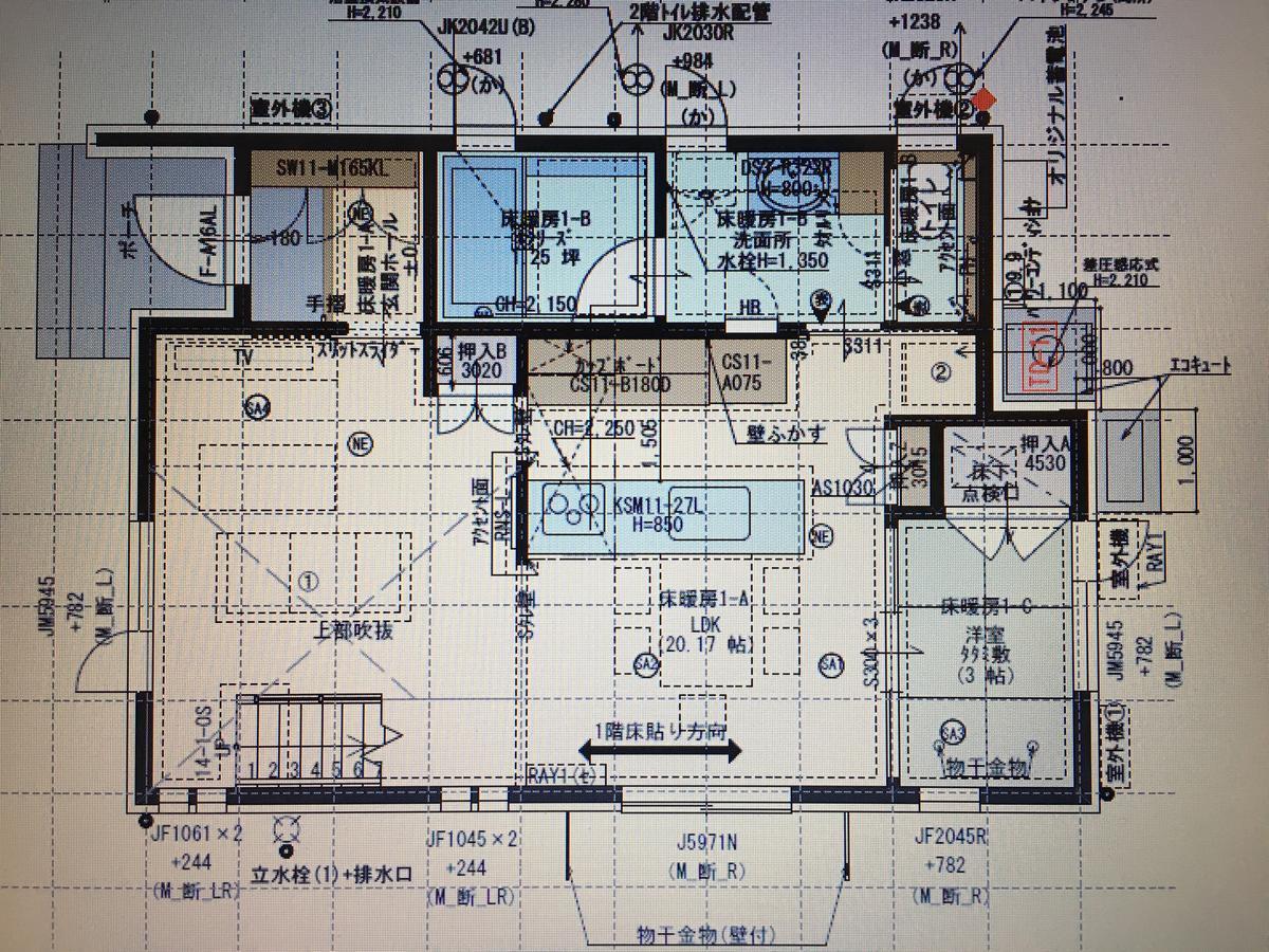 一条工務店 i-smart 1階間取り