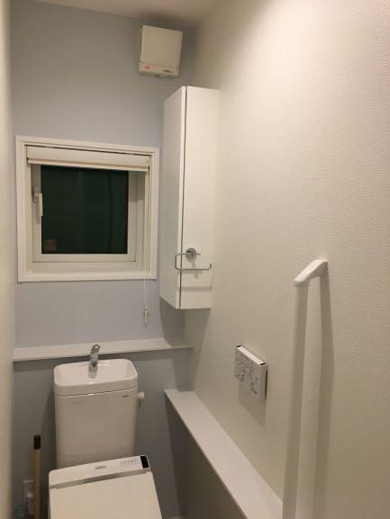 アクセントクロスのトイレ