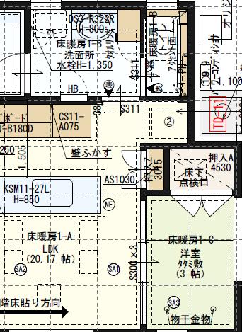 和室配置図