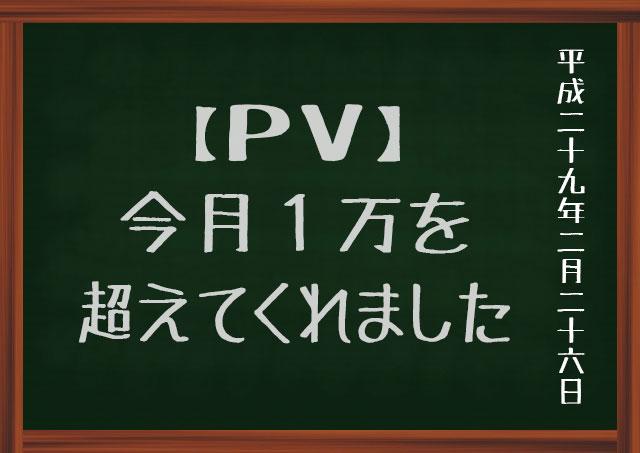 1万PV/月
