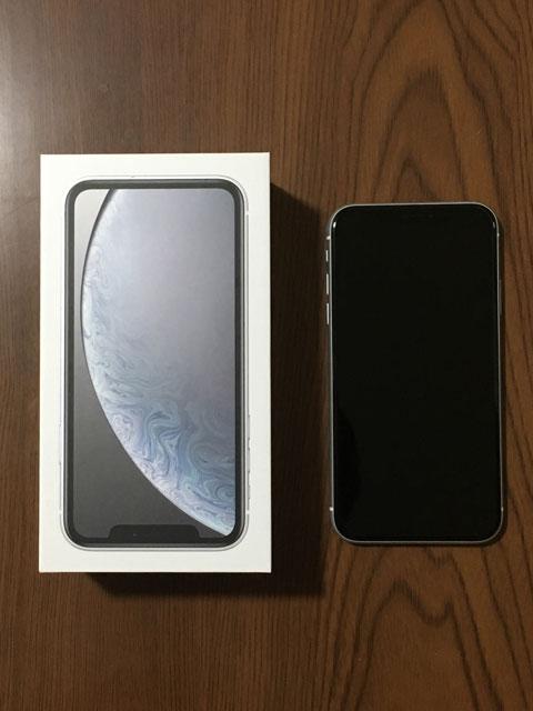 iPhoneXRの本体と箱