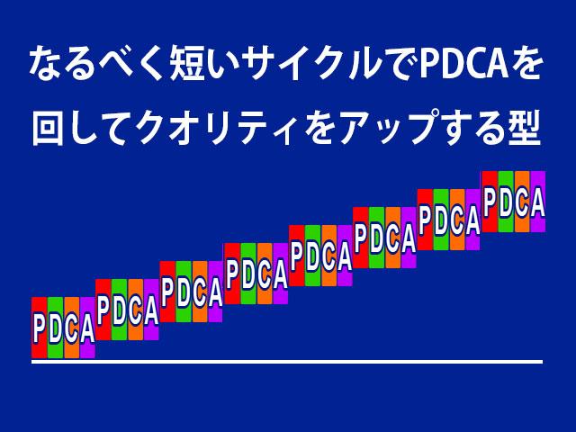 なるべく短いサイクルPDCAかつクオリティの向上
