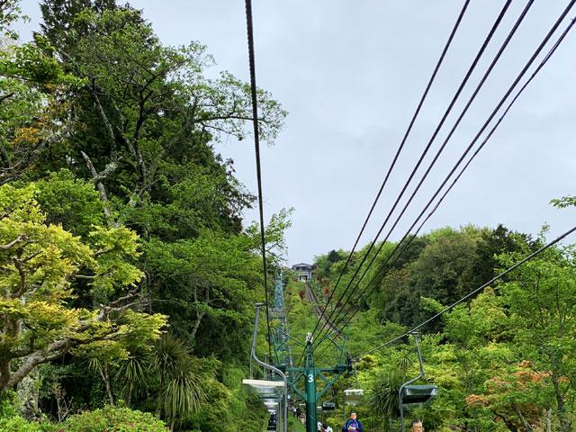 傘松公園へのリフト