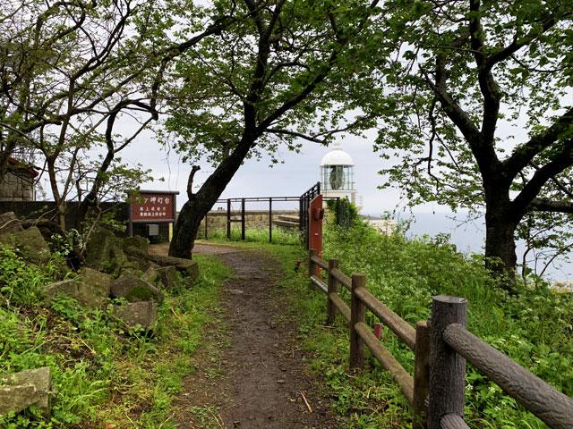 経ヶ岬灯台の入り口