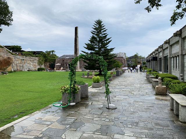 博石館 中庭