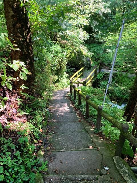 付知峡 最初の階段