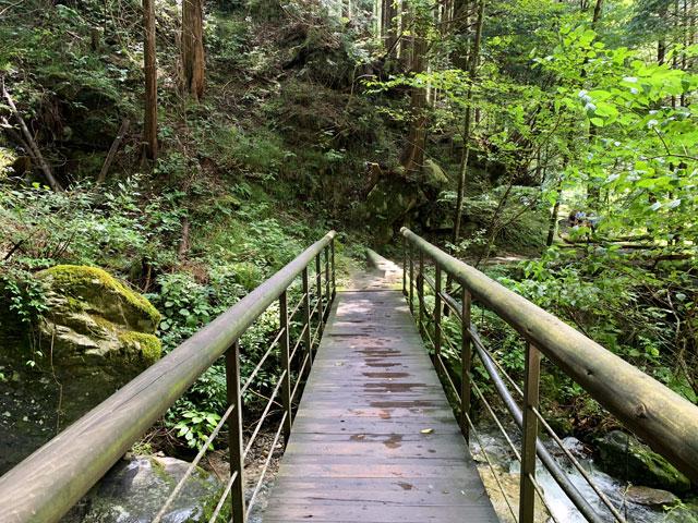 付知峡 道中の橋