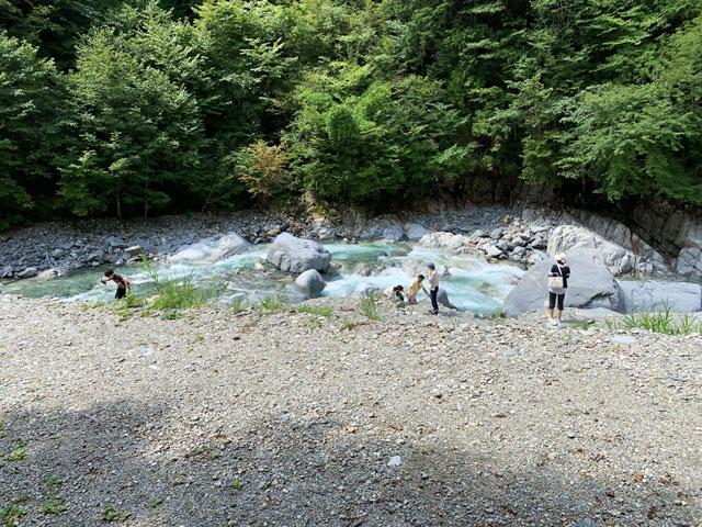付知峡 川遊び