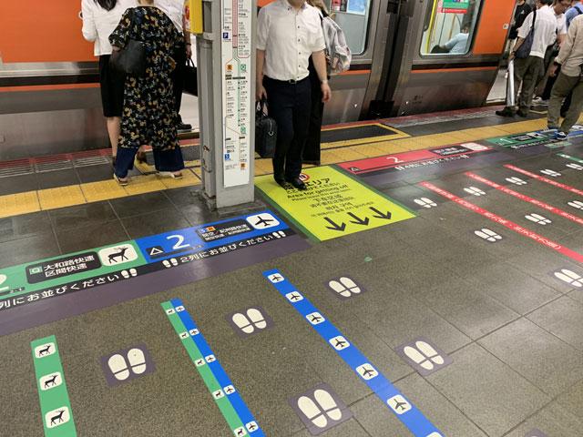 大阪駅一番ホームの案内