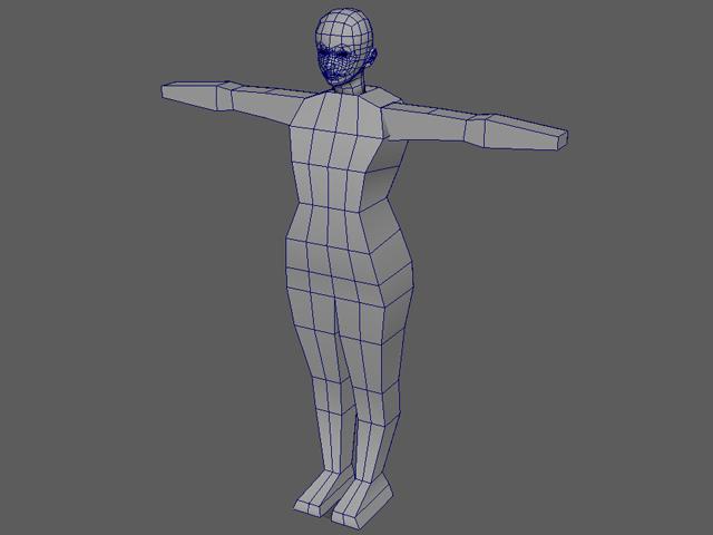 3D美女 胴体から押し出し