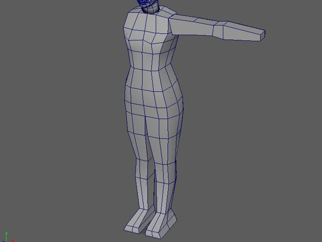 3D美女 胴体の調整