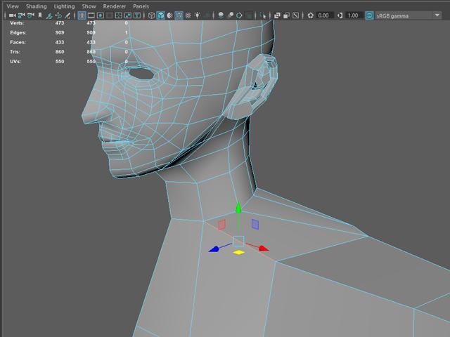 3D美女 首と胴体の接続