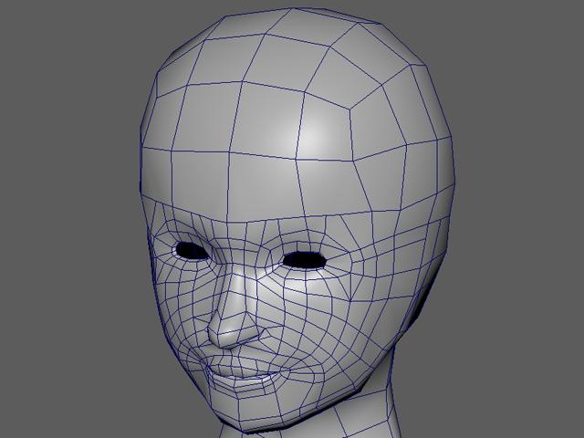 3D美女 顔のトポロジ