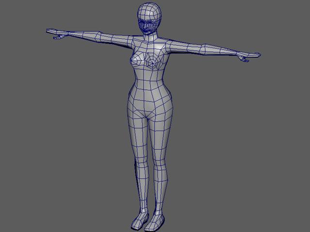 3D美女 全身のラフモデル