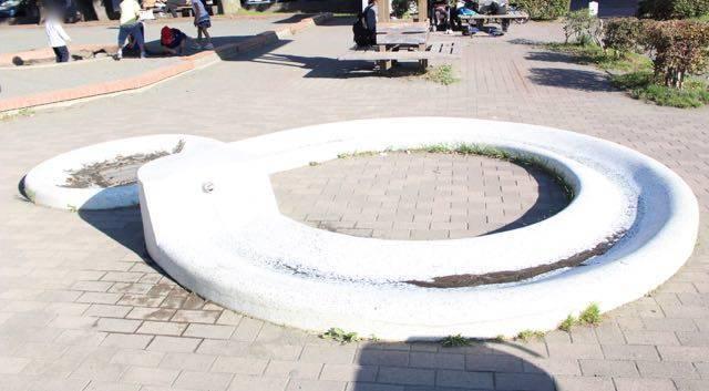 幌西自転車公園 水遊び