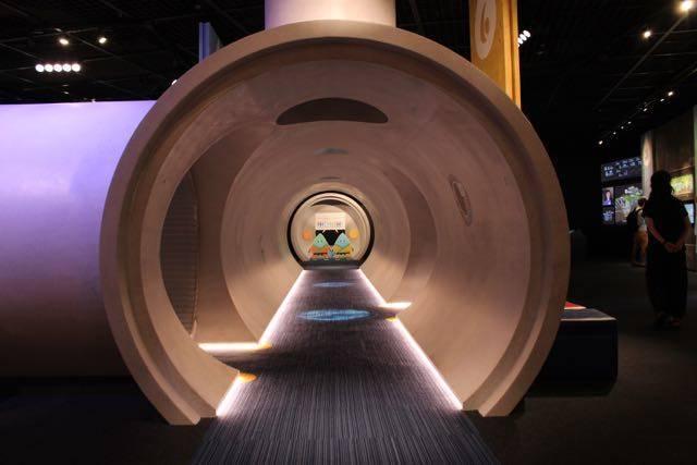 下水道科学館 トンネル