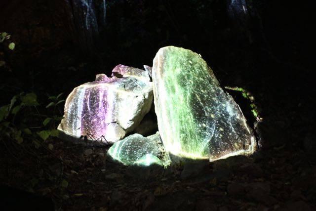 岩のプロジェクション