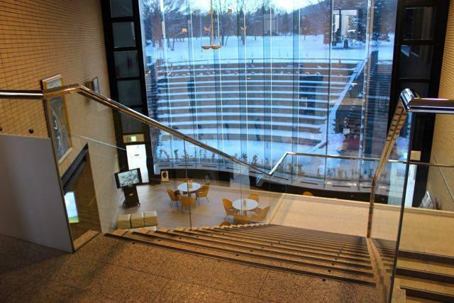 北海道立文学館 階段