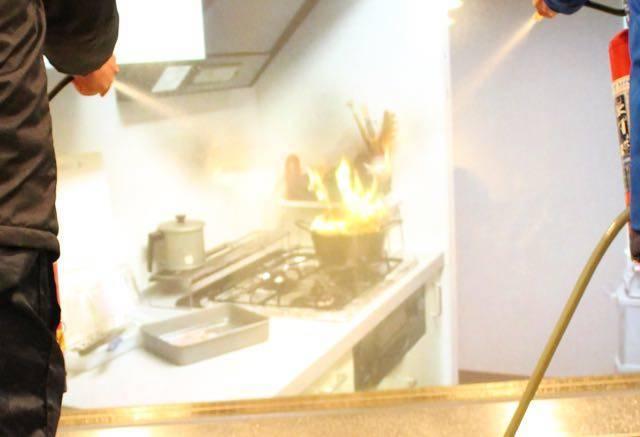 消火体験コーナー 映像
