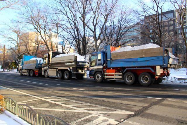 さっぽろ雪まつり トラック