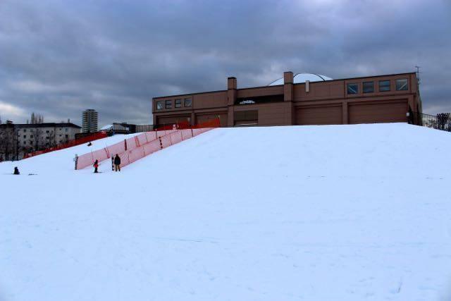 農試公園 そり スキースロープ