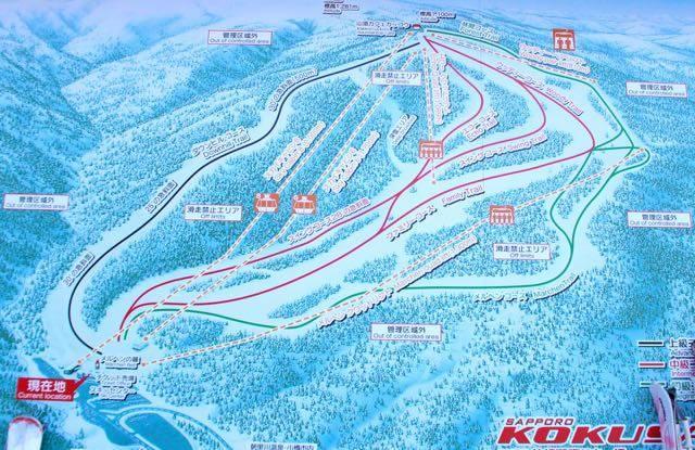 札幌国際スキー場 コース
