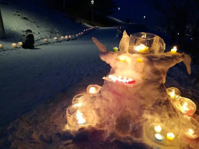 旭山記念公園 スノーキャンドル
