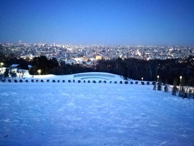 旭山記念公園 冬の夜景