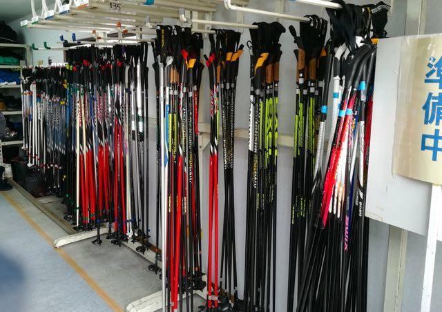 中島公園 歩くスキー ストック