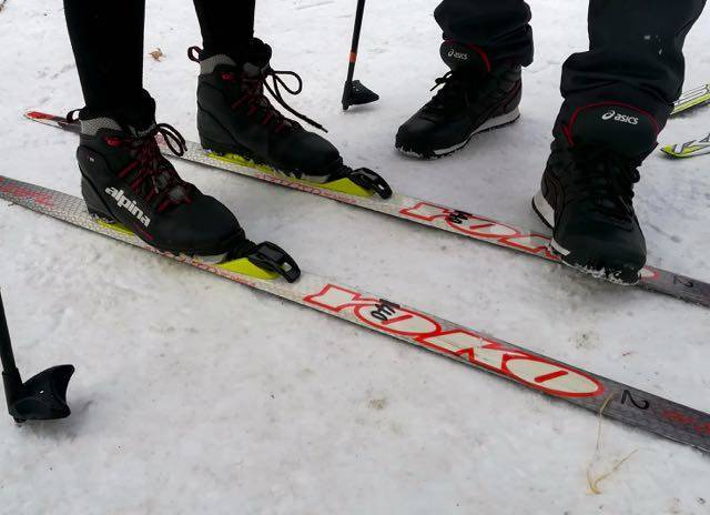 中島公園歩くスキー 履き方