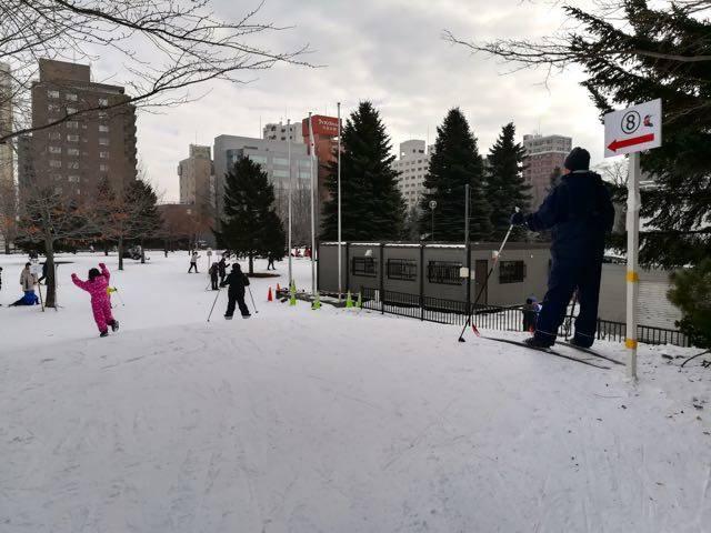 中島公園 歩くスキーコース